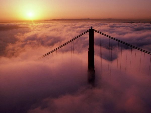 Golden Gate Bridge in Clouds: Image Credit: Tom Tracy Photography/Alamy
