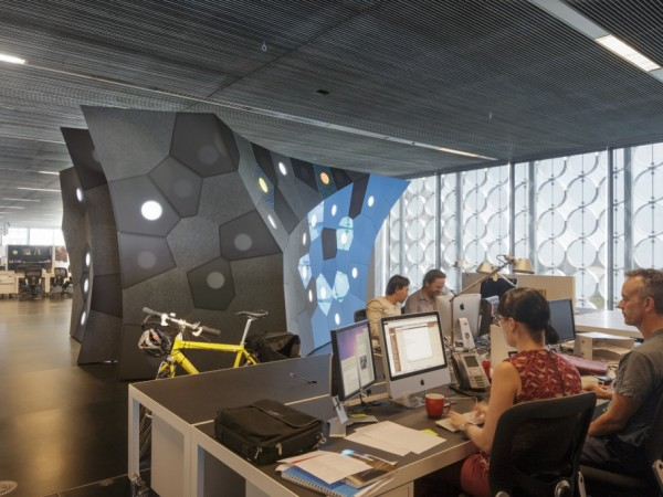 Photo Credit: John Gollings - At work on the Circus OZ Living Archive Project in the Design Hub, RMIT Design Research Institute.
