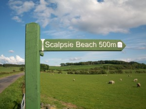 Scalpsie Beach Sign